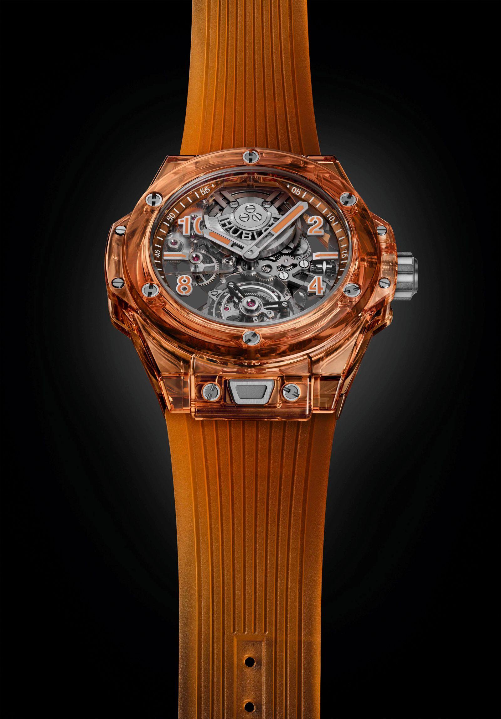 SIHH | Watches and Wonders | Hublot Big Bang Tourbillon Automatic Orange Sapphire
