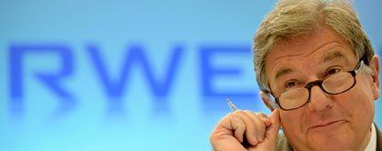 RWE-Chef Jürgen Großmann zeigt auf der Piste Leidenschaft und auch mal Stierhörner