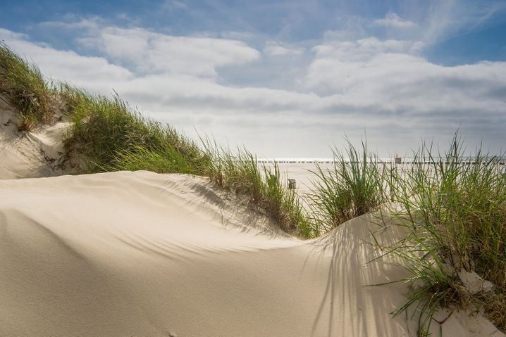 Der Kniepsand auf Amrum ist eine gewaltige wandernde Sandbank