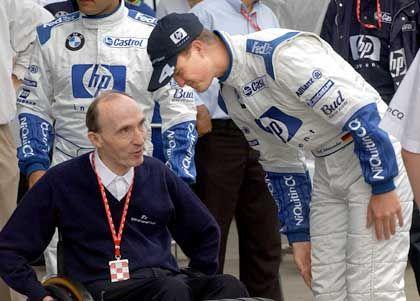"""""""Ich glaube es aber erst, wenn es Wirklichkeit ist."""" Frank Williams mit seinem Fahrer Ralf Schumacher"""