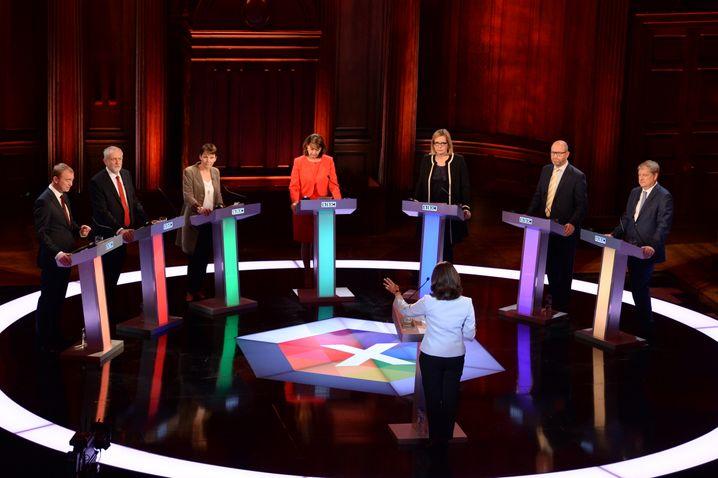Fernsehdebatte der Spitzenkandidaten ohne Theresa May