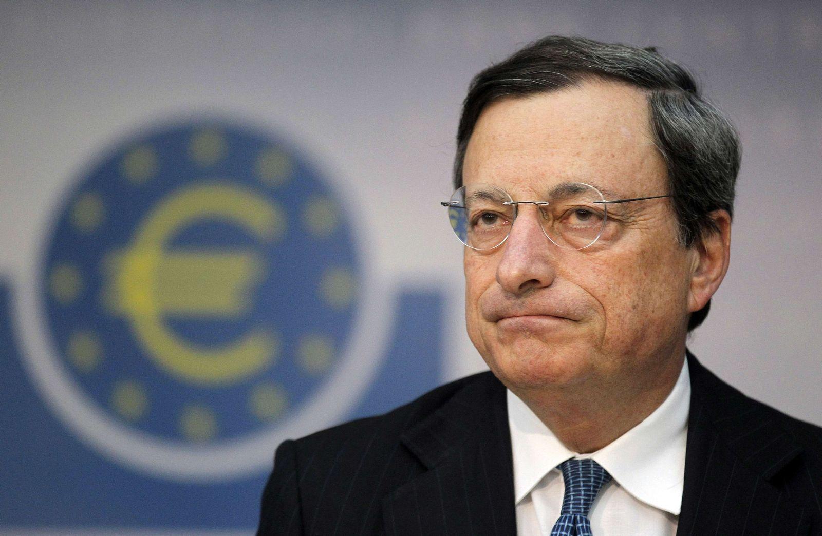 Draghi / EZB-Logo