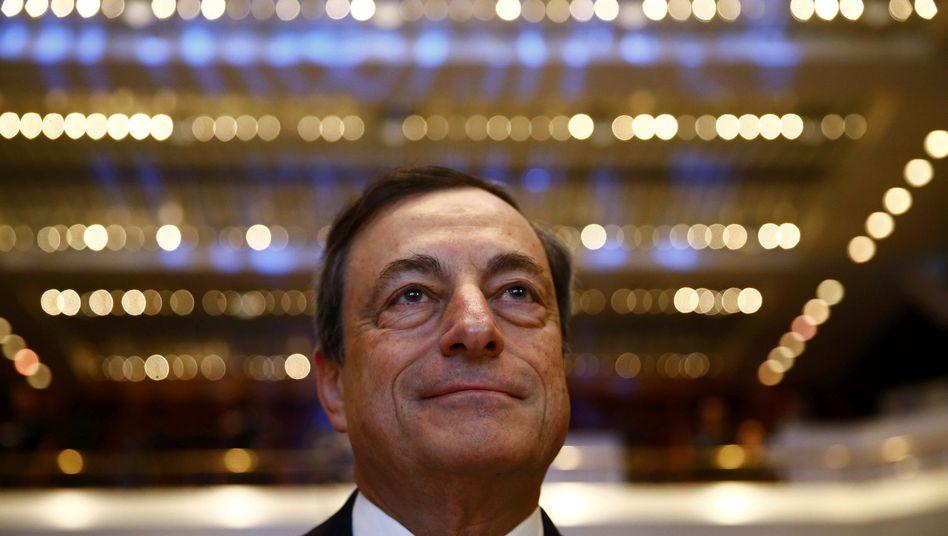 EZB-Chef Mario Draghi: Inflation an der Nulllinie