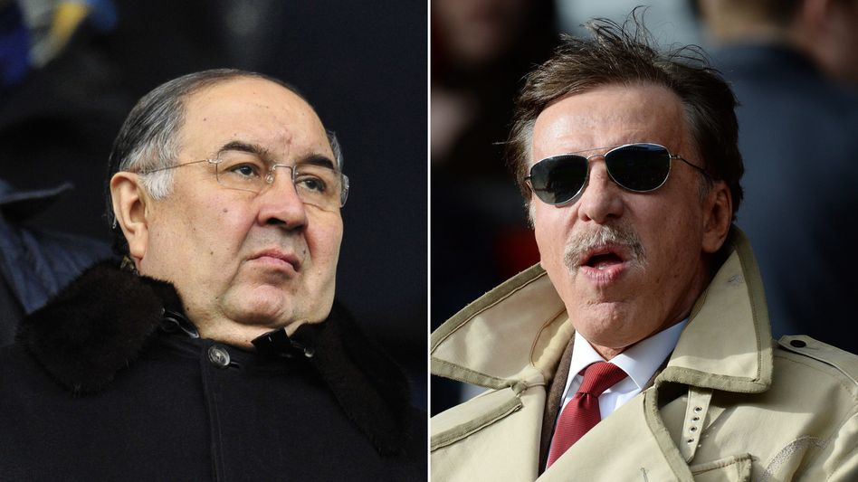 Alischer Usmanow (links) und Stan Kroenke