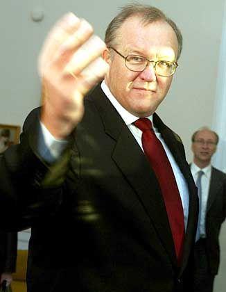 Traf sich mit GM-Europachef Fritz Henderson: Schwedens Ministerpräsident Göran Persson