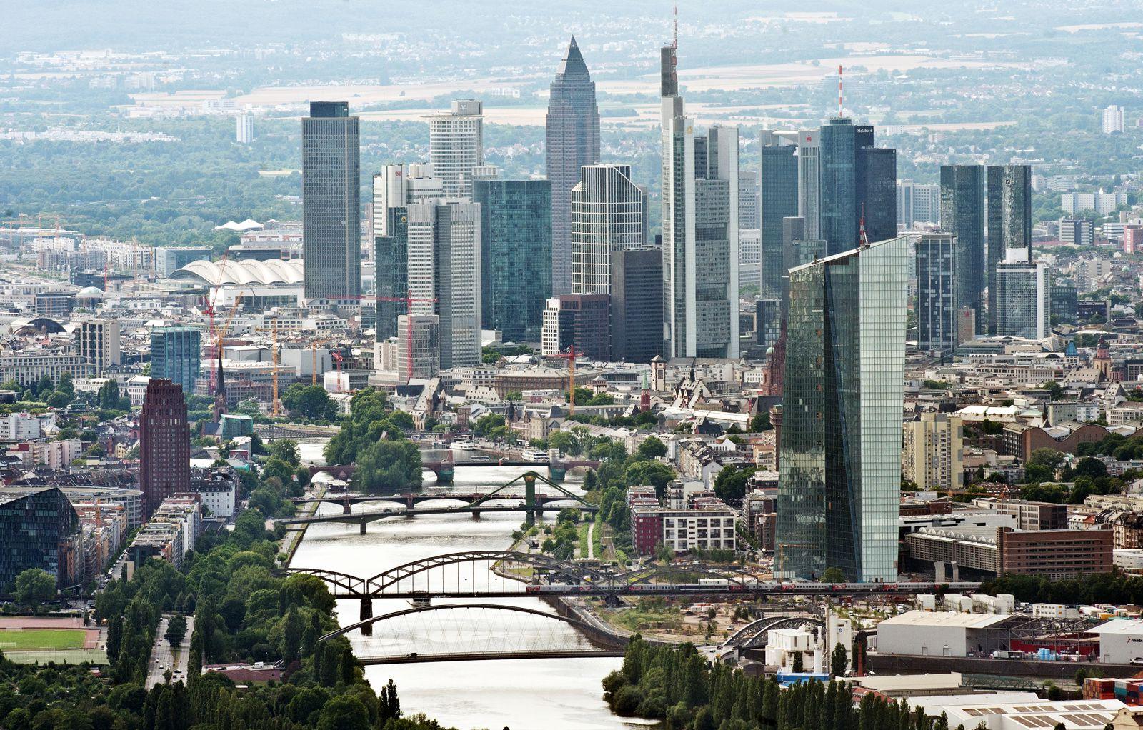 Skyline Frankfurt / EZB / Banken-Viertel