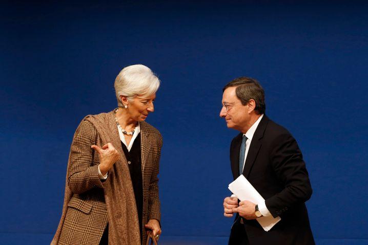 Kein radikaler Kurswechsel in Sicht: IWF-Chefin Christine Lagarde mit Noch-EZB-Chef Mario Draghi.