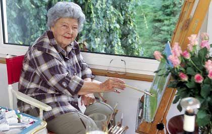 Hobbymalerin: Nach ihrem Rückzug aus dem täglichen Geschäft widmete sich die Verlegerin ihrem Hobby, dem Malen