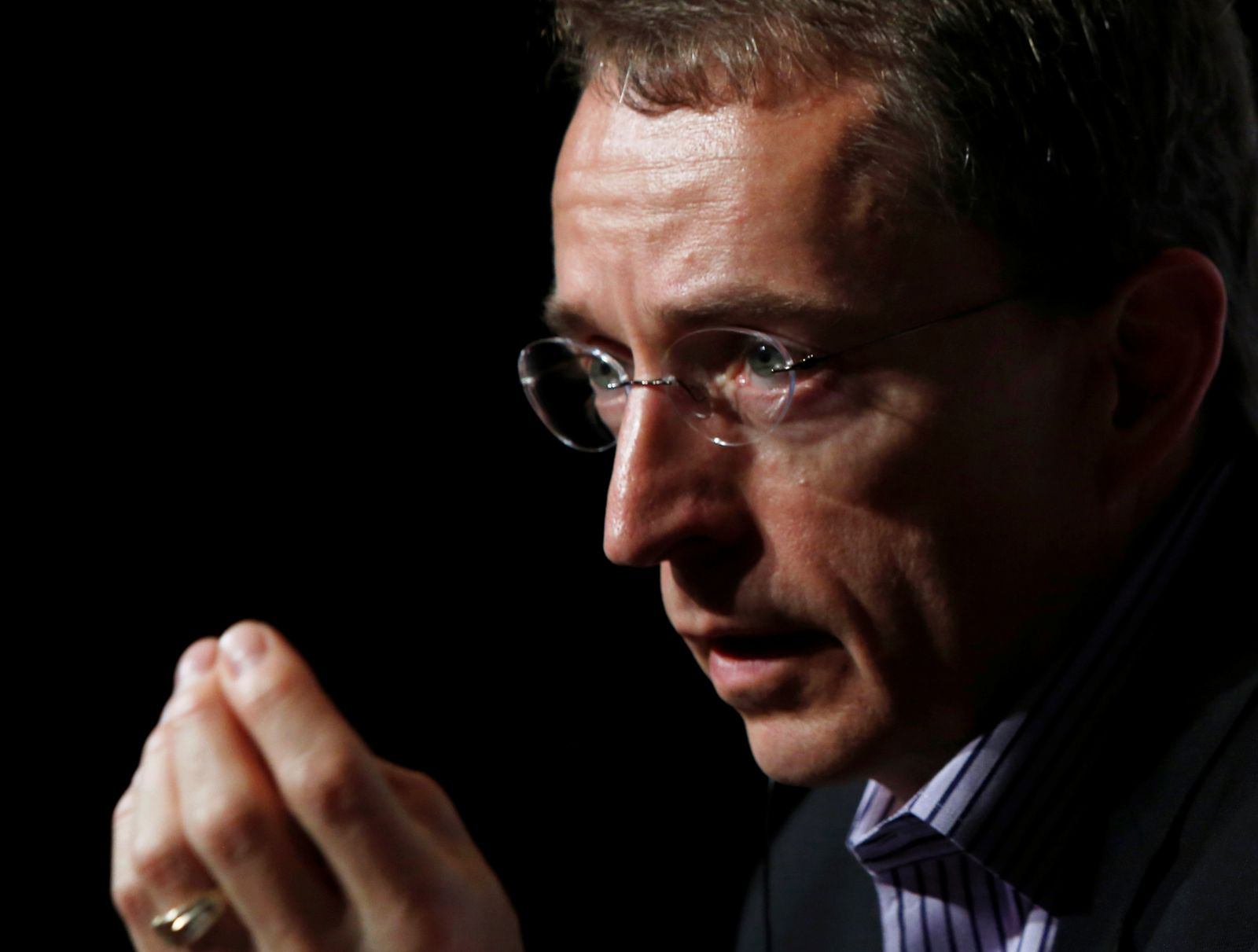 FILE PHOTO: VMware CEO Pat Gelsinger speaks during a news conference in Tokyo