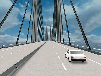 Zukunftsvision wird real: 2011 soll der Bau der neuen Ostseebrücke beginnen