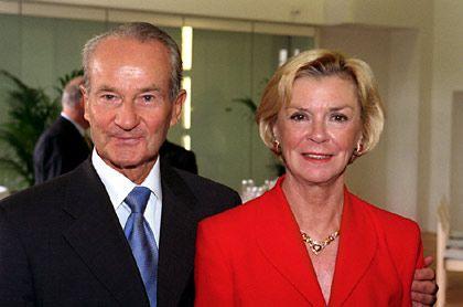 Verleger-Ehepaar: Reinhard Mohn mit Ehefrau Liz