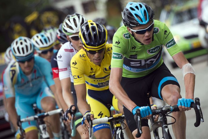 Immer schön treten: Bei der Tour de France lassen die Fahrer ihre Räder auch nicht rollen
