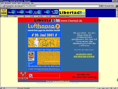 Libertad informiert im Netz