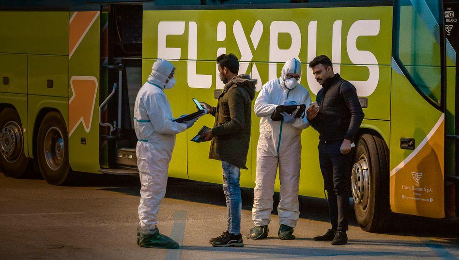 Vom Coronavirus erwischt: Kontrollen an italienischem FlixBus Anfang März