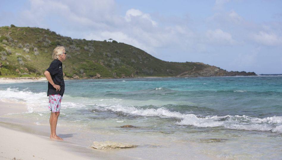 Richard Branson auf Necker Island (Archivaufnahme von 2014)