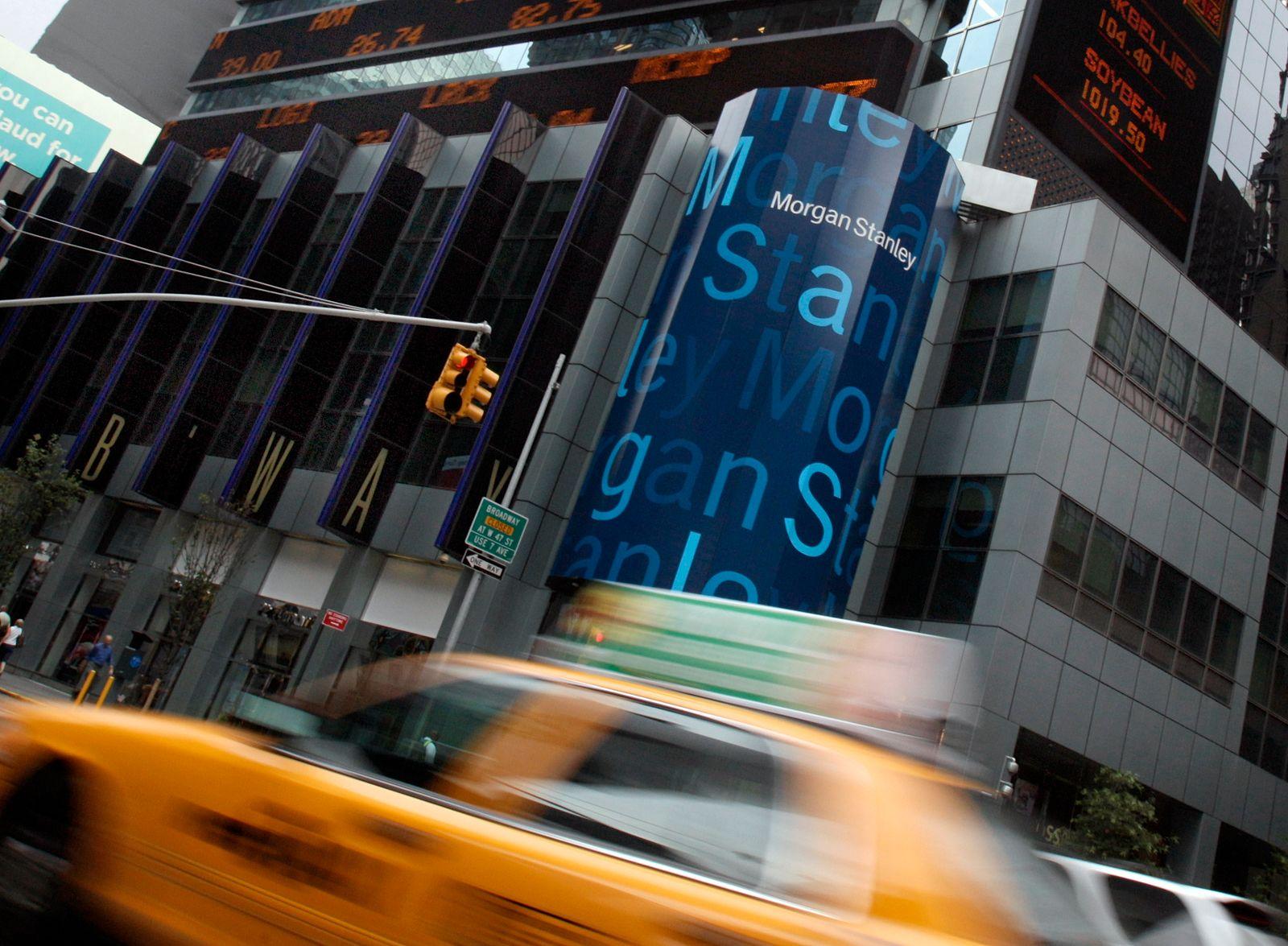 Morgan Stanley zentrale mit taxi