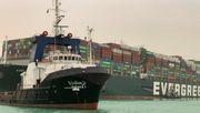 Schlepper bekommen Containerschiff nicht frei