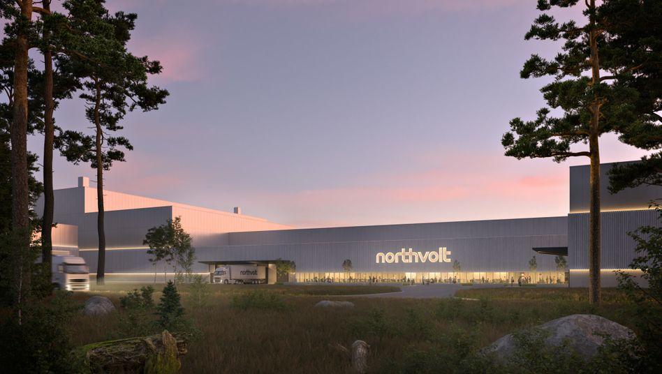 Große Pläne: Rendering der Northvolt-Fabrik in Schweden