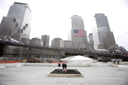 """Ground Zero-Gedenkstätte (am fünften Jahrestag der Anschläge 2006): """"Führungsrolle bei der Wiederbelebung"""""""