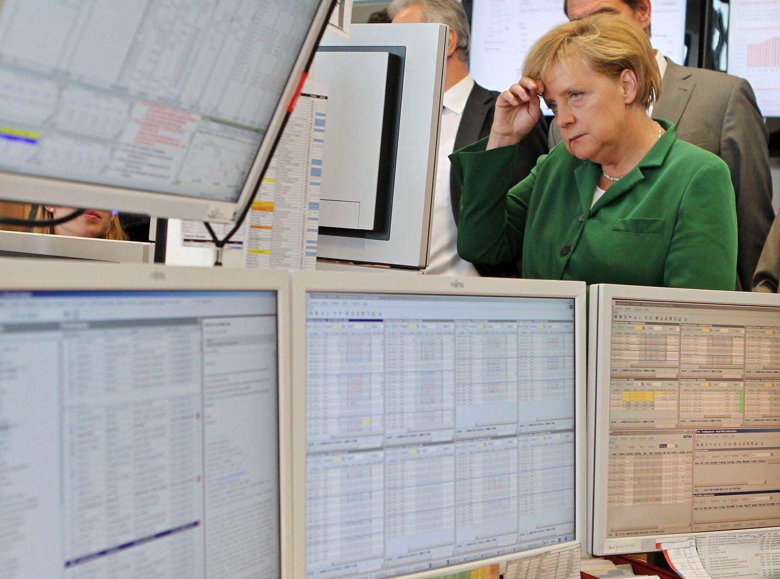 Merkel besucht Strombörse
