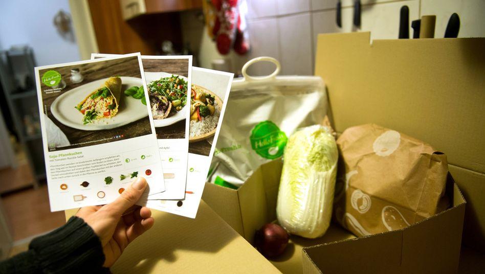 HelloFresh-Lieferung mit Kochrezepten