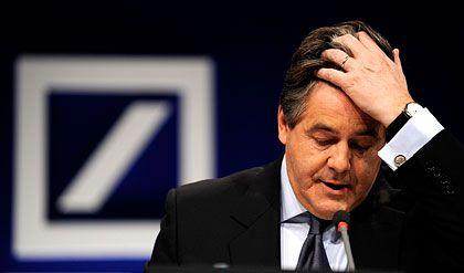 Die Börse zweifelt: Deutsch-Banker Ackermann verliert Vertrauen