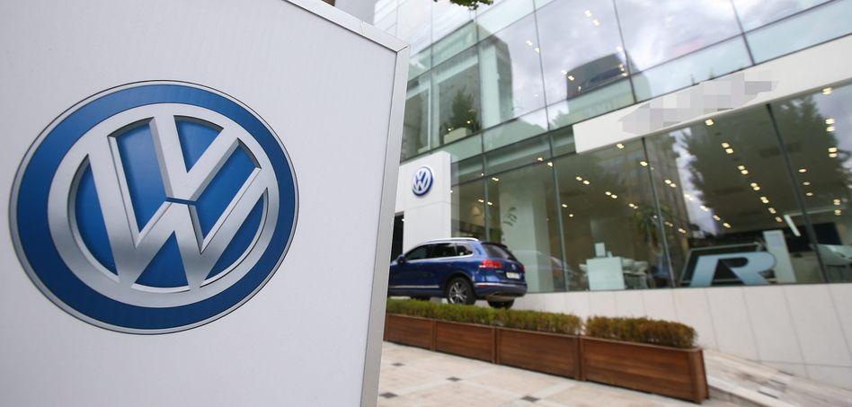 Volkswagen-Händler in Seoul: Regierung erhöht den Druck