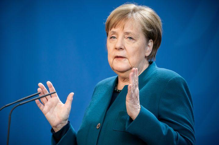 Bundeskanzlerin Angela Merkel warnt vor einem Wettlauf zu schnellen Lockerungen des Shutdown