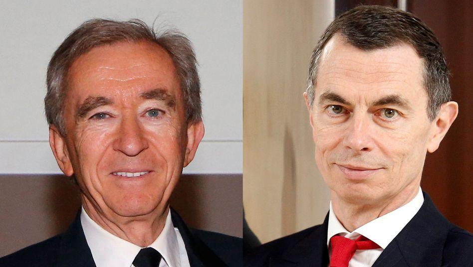 """Gemeinsam im """"Spac""""-Geschäft: LVMH-Milliardär Bernard Arnault und Ex-Unicredit-Chef Jean Pierre Mustier"""