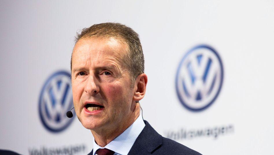 Streit mit dem Betriebsrat: VW-Markenchef Herbert Diess