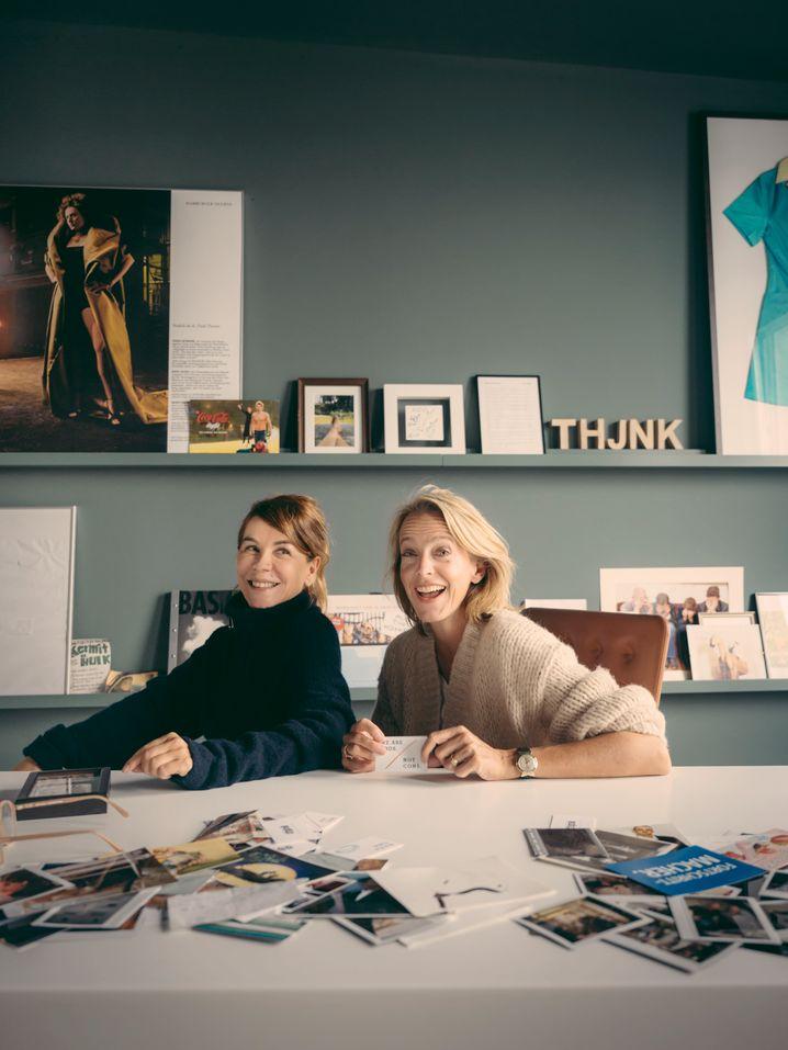 Freundinnen mit ähnlichen Lebensläufen: Karen Heumann (l.) und Julia Jäkel