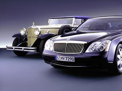 Luxus-Tradition Ur-Maybach (l.) und Nachfahre