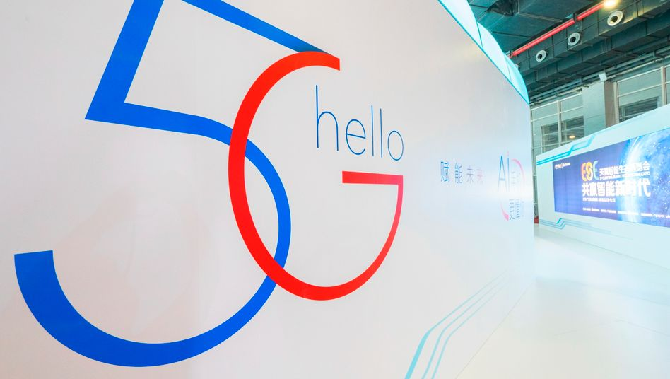 5G Logo in Guangzhou: Huawei will auch in Europa beim Aufbau der neuen Mobilfunknetze mitmischen