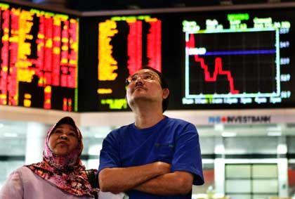 Die Angst ist noch da: Szene an der malaysischen Börse Kuala Lumpur