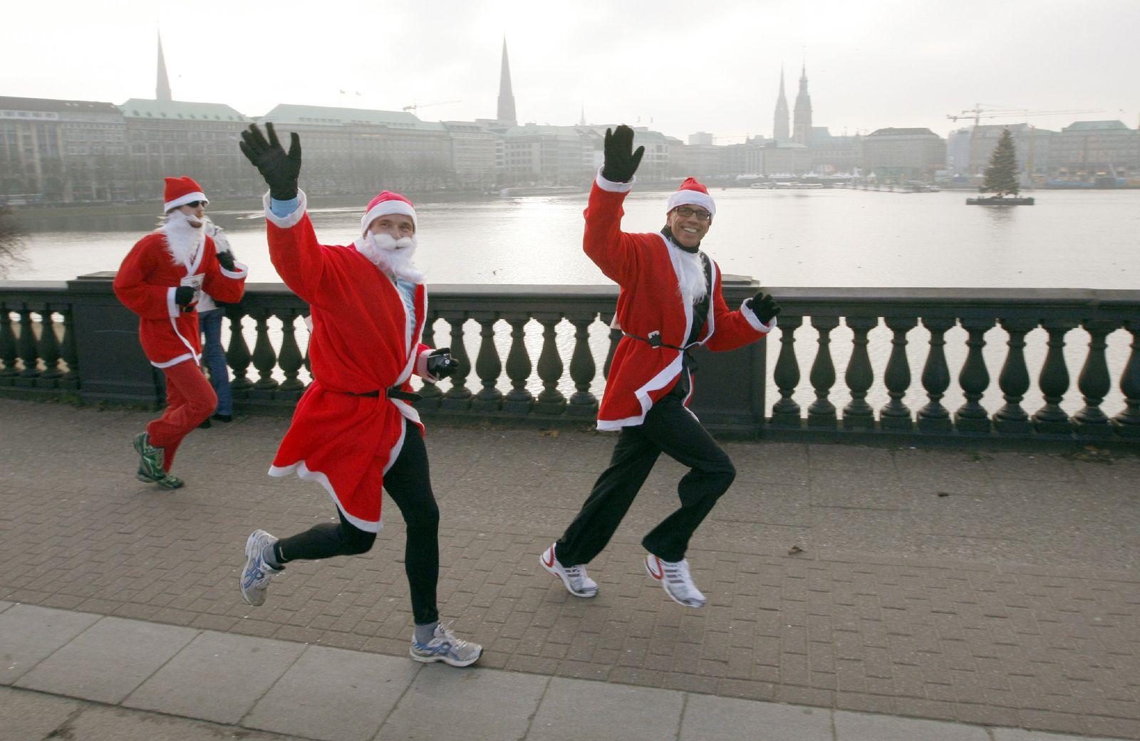Weihnachtsmannlauf in Hamburg