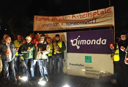 Demonstration von Qimonda-Beschäftigten: Finanzspritze von der Landesregierung?