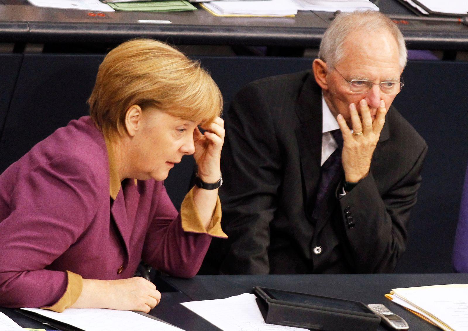 Merkel / Schäuble / Lebensversicherung
