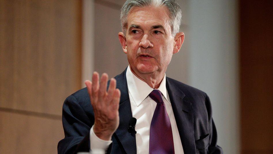 Worte, die bares Geld wert sein können: Fed-Chef Jerome Powell erläutert regelmäßig die Zinsentscheidungen seines Hauses.