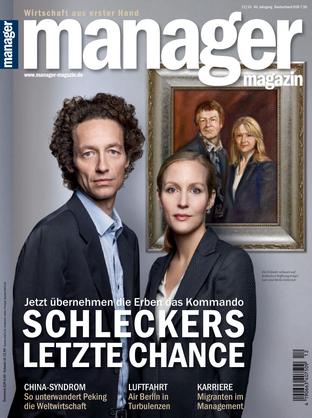 HEFTCOVER manager magazin 12/2010 Schleckers letzte Chance