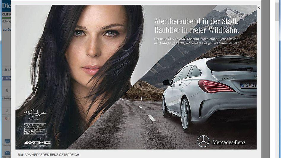 Der Eklat: Diese Werbung von Anna Fenniger für Mercedes entzürnt Österreichs Skiverband