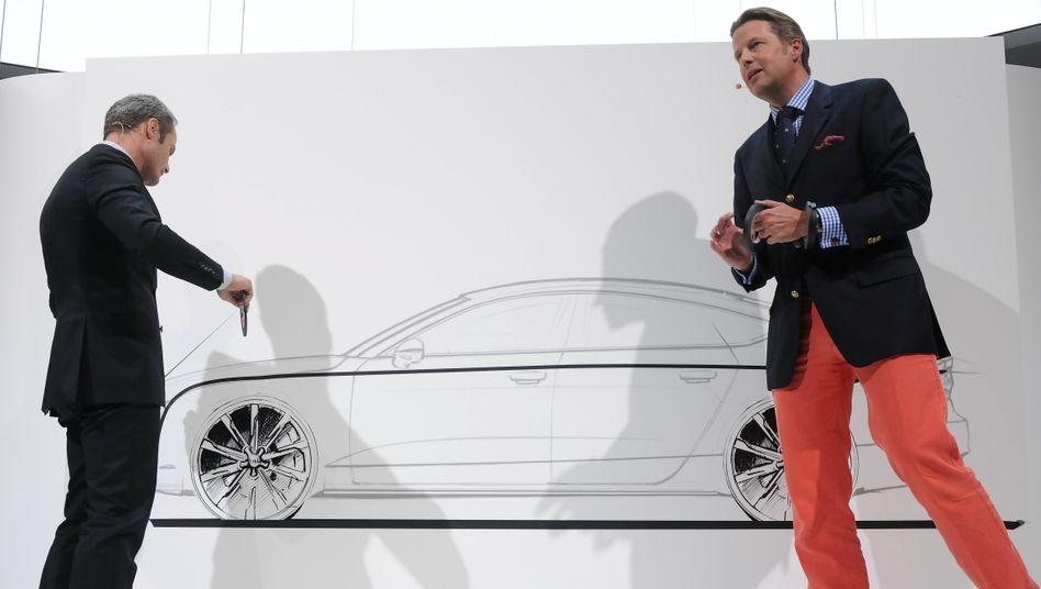 Umbau: Wolfgang Egger (links) verantwortet künftig allein das Design für Audi. Stefan Sielaff (rechts) leitet ab Februar das Design Center in Potsdam, das für alle VW-Marken zuständig ist