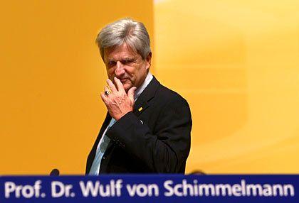 Wulf von Schimmelmann: Ausstiegsklausel im Vertrag