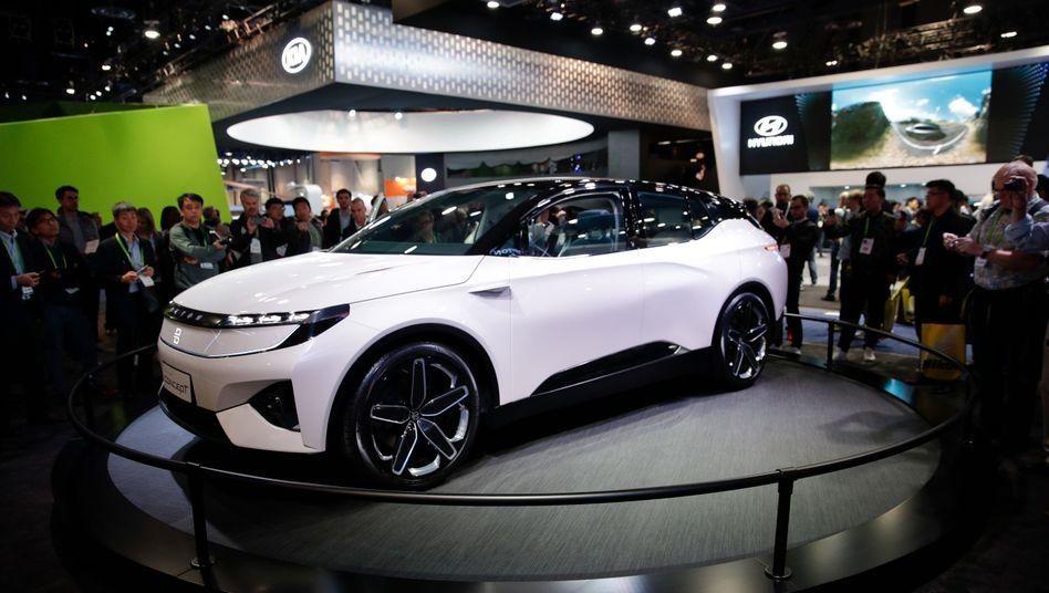 Erster Elektro-SUV-Prototyp von Byton: Das Serienmodell soll fast ident sein, heißt es bei dem Start-Up