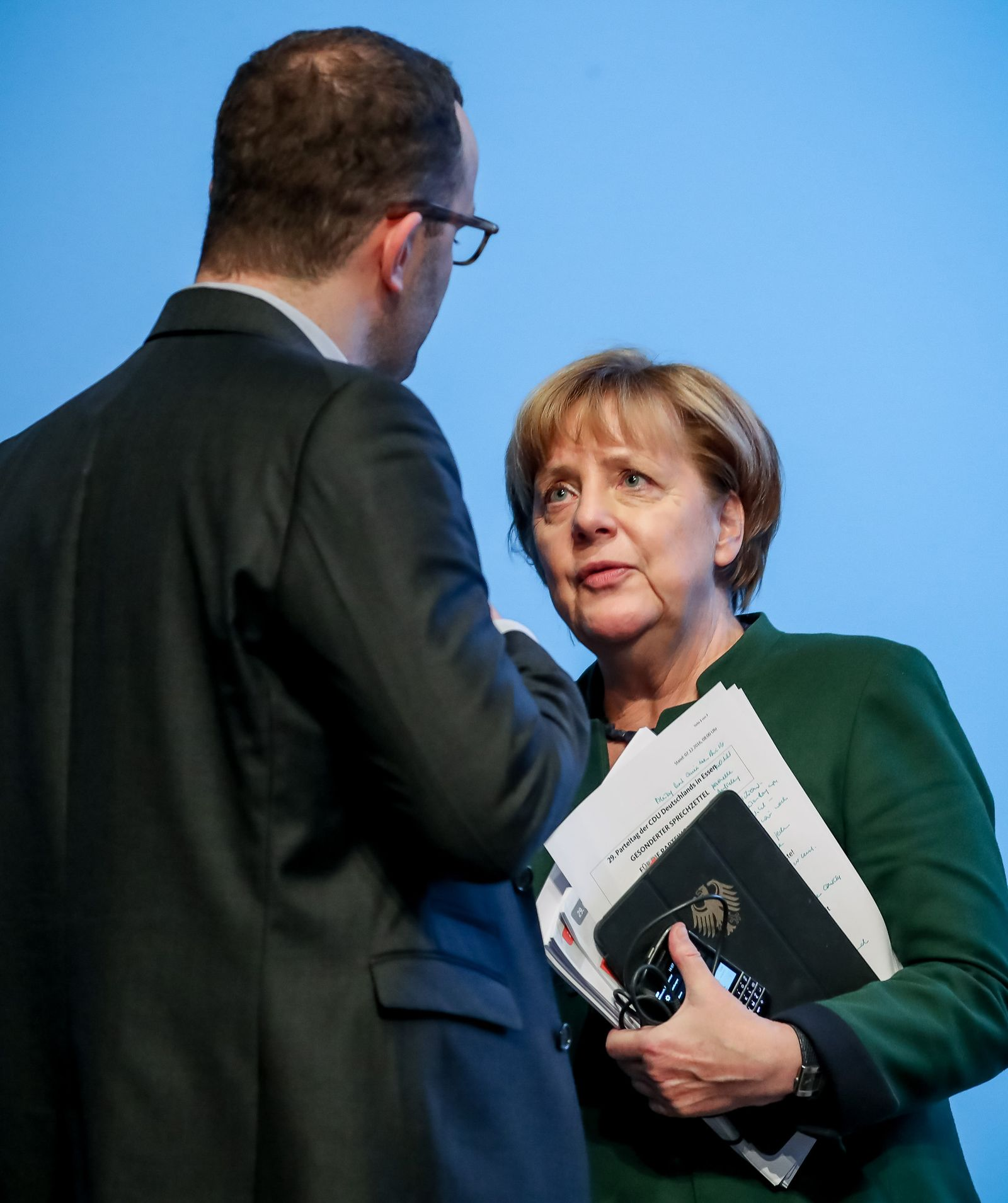 CDU-Bundesparteitag / Angela Merkel / Jens Spahn