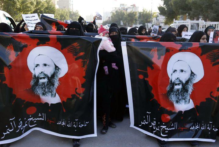 Keine Rücksicht: Protest im Irak gegen die Hinrichtung des schiitischen Predigers Nimr al-Nimr