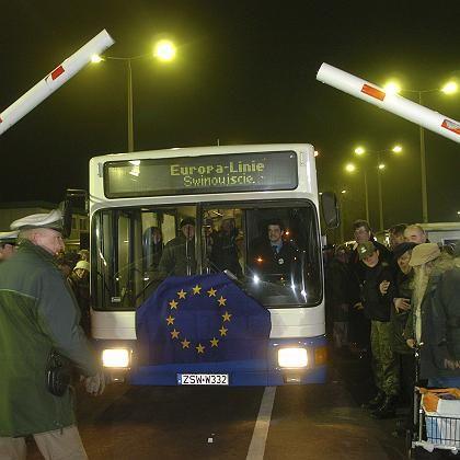 Deutsch-polnische Grenze zwischen Swinemünde und Ahlbeck: Grenzkontrollen entfallen