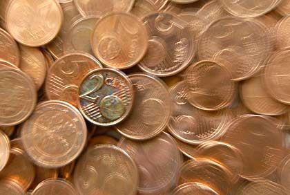 Einige Münzen will die Bundesbank sich sparen: Die Ein-Cent-Münze ist auf Grund der gestiegenen Stahlpreise derzeit teurer als ihr Nennwert. Gleiches gilt für die Zwei-Cent-Münze
