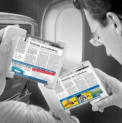 Ein Herz für Bäume Klassische Printprodukte wie Zeitungen und Zeitschriften könnten künftig auch auf transportablen Bildschirmen gelesen werden. Anders als in der Papierversion ließen sich Werbeinhalte auf den einzelnen Leser zuschneiden.