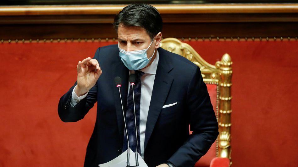 Verärgert: Italiens Premierminister Giuseppe Conte
