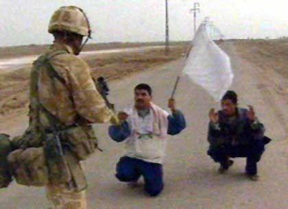In Basra die Kontrolle übernommen: Britischer Soldat im Südirak